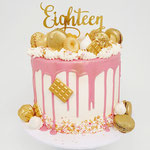 Eighteen in White Pink and Gold, taart Den Bosch