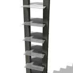Progetto TEVA Classic Espositore in legno e metallo
