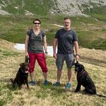 Oryx und Kiwi mit Nadine und Claus