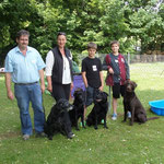 Iowa, Dubai, Luna und Hitch mit Christian, Susanne, Nick und Fabio
