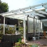 Terrassendach 80 qm Material Alu Pulverbeschichtet weiss RAL 9016