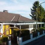 Terrassendach Strassenseite BVH Neuss / Hoisten
