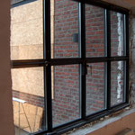 Stahlfenster Rahmen Sectorenweise thermisch getrennt