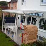 Terrassendach Material Alu / Stahl Pulverbeschichtet RAL 9016