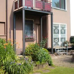 Balkon, feuerverzinkt und nach DB Palette  Pulverbeschichtet (Eisenglimmer)
