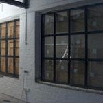 Stahlfenster feuerverzinkt und RAL 7016 Pulverbeschichtet