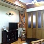 部屋と部屋の仕切りを可動式扉にし、空間の広さの調整ができるようにしました