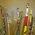 Wanderstab 38 euro, Gehstock aus Haselnussholz, Kunsthandwerk im Gudwork