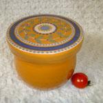 Tongefäss mit Deckel, Lebensmittel echte Glasur, eignet sich auch zum aufbewaren aller Dinge im Kühlschrank