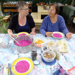Kalte Suppe ( rote Beete), Kräuterworkshop