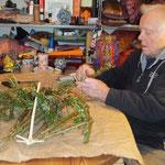 Quirl aus Baumspitze , selbermachen, Holzquirl, upsycling im Gudwork