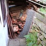 Danach wurde das Lager an der oberen Mauer angegangen
