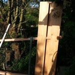 Neubau des alten Sichtschutzzaunes
