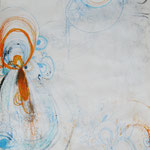 Muschelähnlich, 2012 / 2013, Mischtechnik auf Papier, ca. 40 x 50 cm