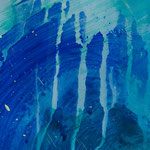 Detail 1. Akt, 2018, Acryl auf Papier, ca. 2,10 x 4,00 m