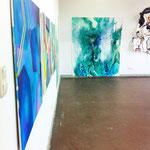 Blau-Grünes Bild 2 im Kontext der Werke von Judith Valeria, Marvin Hoffmann und Marcel Gibowski