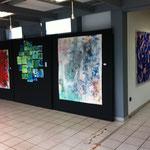 Kleine Farbstudien und Malereien von Melina Marciniak und Gabriel Verbücheln in Ausstellungsansicht