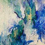 Blau-Grünes Bild, 2014 in der RESULTATE-Ausstellung 2015