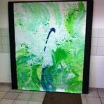 Blau-Grünes Bild 10/11 in Ausstellungsansicht
