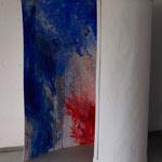 Rot-Blaues Bild, 2015, Acryl auf Papier, ca. 2,10 x 3,00 m