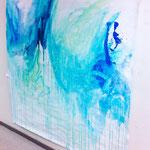 Blau-Grünes Bild 14, 2017 in der RESULTATE-Ausstellung 2017