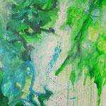 Blau-Grünes Bild 9, 2016, Acryl auf Papier, ca. 2,10 x 2,90 m