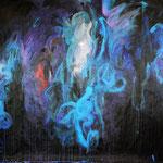 2. Akt, 2018, Acryl auf Papier, ca. 2,10 x 4,00 m