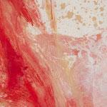 Detail Hautfarbenes Bild, 2015, Acryl auf Papier, ca. 0,80 x 2,70 m