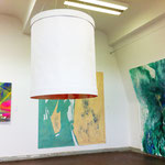 Blau-Grünes Bild 2 und Hautfarbenes Bild im Kontext der Werke von Judith Valeria und Marcel Gibowski