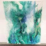 Blau-Grünes Bild 2 in Ausstellungshängung I