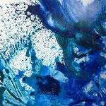 Blau-Grünes Bild klein 3/3, 2016, Acryl auf MDF, 50 x 60 cm