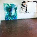 Blau-Grünes Bild 2 und Hautfarbenes Bild im Kontext eines Werks von Marcel Gibowski