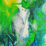 Blau-Grünes Bild 7.1., 2016, Acryl auf Papier, ca. 2,10 x 2,90 m