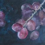 Weintrauben, 2011, Acryl auf Papier, 50 x 70 cm