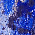 Detail Blaues Bild, 2015, Acryl auf Papier, ca. 2,10 x 3,50 m
