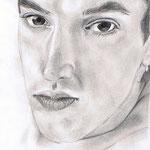 Porträt, 2006 (gezeichnet im Alter von 15 Jahren) , Bleistift auf Papier, ca. 20 x 30 cm