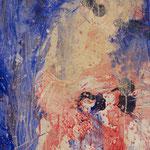 Detail Rot-Blaues Bild, 2015, Acryl auf Papier, ca. 2,10 x 3,00 m