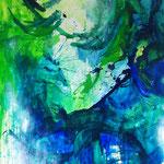 Blau-Grünes Bild 6, 2016 in der RESULTATE-Ausstellung 2016