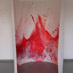 Rotes Bild, 2015, Acryl auf Papier, ca. 2,10 x 3,00 m