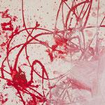 Detail Rotes Bild, 2015, Acryl auf Papier, ca. 2,10 x 3,00 m
