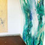 Blau-Grünes Bild 2 in Ausstellungshängung II