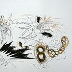 Siebdruckdruck Gold / Schwarz 4