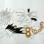 Siebdruck Gold / Schwarz 2