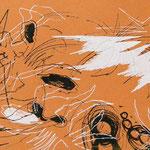 Siebdruck Orange / Weiss 2