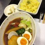 本日のスープカレー・ピクルス(冬瓜・ピーマン・新生姜)