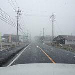 出勤途中、猛吹雪!!