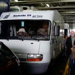 A l'intérieur du ferry pour l'Écosse