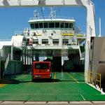 Le ferry pour Krk est prêt à nous avaler.