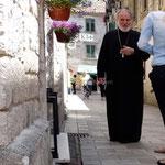 Kotor: un prêtre orthodoxe