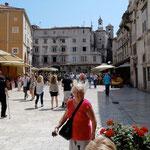 Split: place Narodni et Tour de l'Horloge
